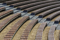 Rows of seats in the open air auditorium hall Royalty Free Stock Photography