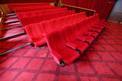Rows of seats in picture show hall Stock Image