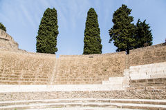 Rows of Seats in Pompeii Theater Stock Images