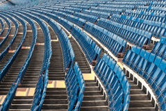 Rows of seats set out in a stadio Royalty Free Stock Image