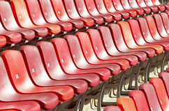 Rows of seats in a sports stadium Stock Photos