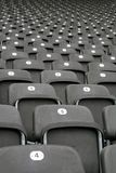 Rows of seats in stadium royalty free stock photo