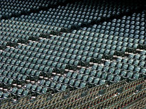 Rows of seats in stadium Stock Image