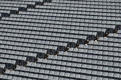 Rows of seats. At a stadium Stock Photos