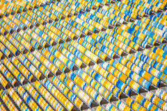 Rows of seats. In stadium royalty free stock photography