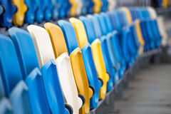Rows of seats. In stadium royalty free stock image