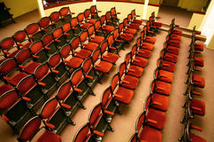 Rows of seats in a theater Stock Images