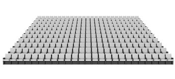 Rows of seats in theater Royalty Free Stock Photo