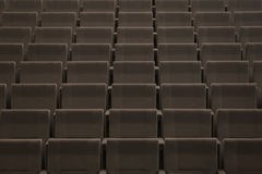 Rows of seats in a theatre. Rows of seats seen in the opening of a new conventions and congress theatre in the Spanish island of Majorca Stock Images