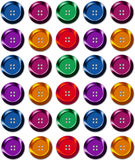 Rows of Sewing Buttons Royalty Free Stock Image