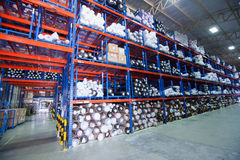 Rows of shelves Stock Image