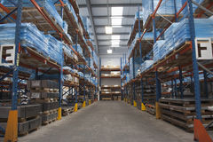 Rows Of Shelves In Warehouse Stock Images