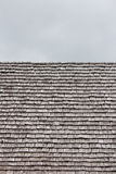 Rows of shingles on a roof Royalty Free Stock Photography