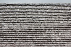 Rows of shingles on a roof Stock Images