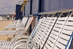 Rows of Shipboard Chairs Royalty Free Stock Photo