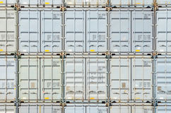 Rows of shipping containers  in the Port Royalty Free Stock Image