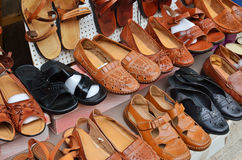 Rows of shoes Stock Photography