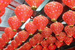 Rows Of Silk Lanterns Stock Images
