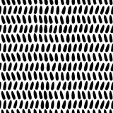 Rows of sketchy brush strokes arranged in rows Stock Photography