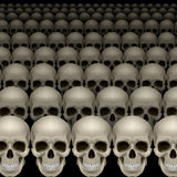 Rows of skulls Royalty Free Stock Photos