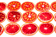 Rows of sliced blood orange Royalty Free Stock Photography