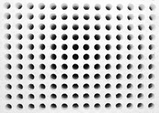 Rows of small holes Stock Image