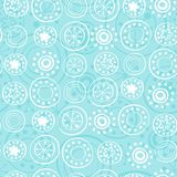 Rows of snowflakes on baby blue Royalty Free Stock Image