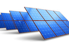 Rows of solar battery panels Royalty Free Stock Image