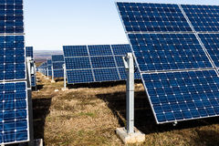 Rows of solar panels Stock Images