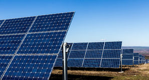 Rows of solar panels Stock Image