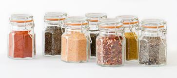 Rows Of Spices Royalty Free Stock Photo