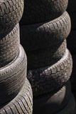 Rows of stacked tyres (1) Royalty Free Stock Photo
