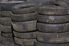 Rows of stacked tyres (3) Stock Image