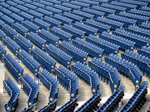 Rows of Stadium Seats Stock Photo