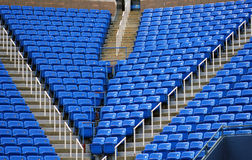 Rows of stadium seats Royalty Free Stock Photo