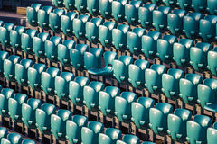 Rows of stadium seats Royalty Free Stock Photography