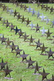 Rows Of Star Tombstone at cemetery, Gdynia, Poland Stock Photo
