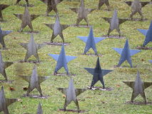 Rows Of Star Tombstone at cemetery, Gdynia, Poland Royalty Free Stock Photos