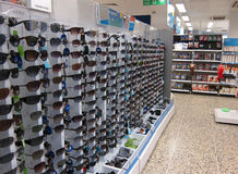 Rows of sunglasses. Royalty Free Stock Photo