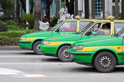 Rows of taxi Stock Image