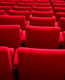 Rows of theater seats Stock Image