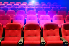 Rows of theater seats Royalty Free Stock Images
