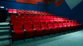 Rows of theater seats Royalty Free Stock Photo