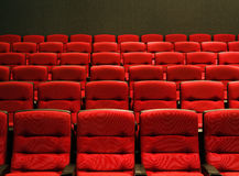 Rows of theater seats Stock Photo