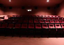 Rows of theater seats Royalty Free Stock Photos