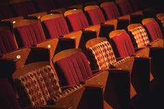 Rows of Theater Seats Stock Images