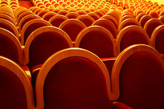 Rows of theatre seats Royalty Free Stock Photos
