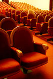 Rows of theatre seats Stock Photography