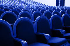 Rows of theatre seats Stock Image