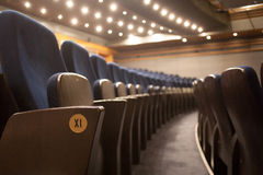 Rows of theatre seats Stock Images